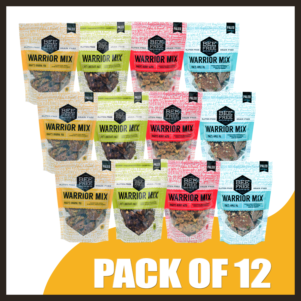 Assorted WARRIOR MIX 9oz case (12 bags)