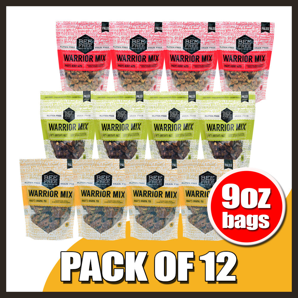 Assorted WARRIOR MIX 9oz case (12 bags).