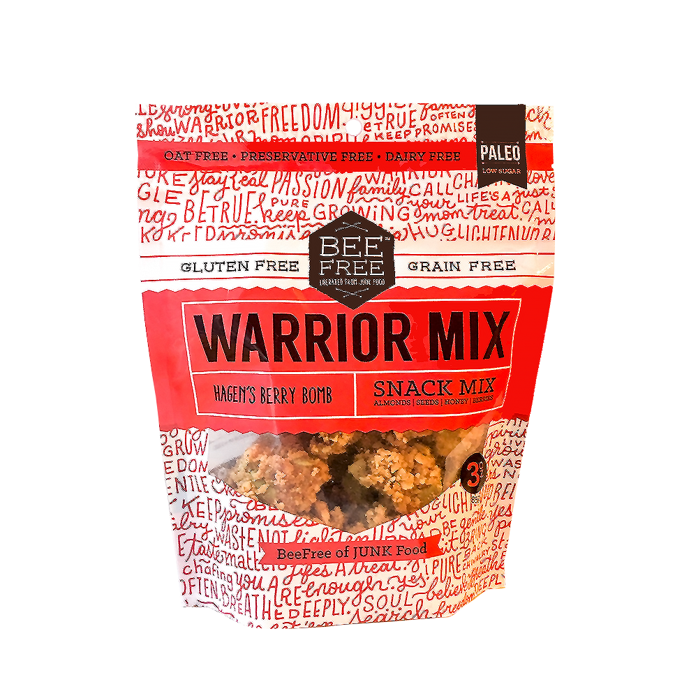 BeeFree Gluten-Free Bakery Hagen's Berry WARRIOR MIX 3oz case (12 bags)