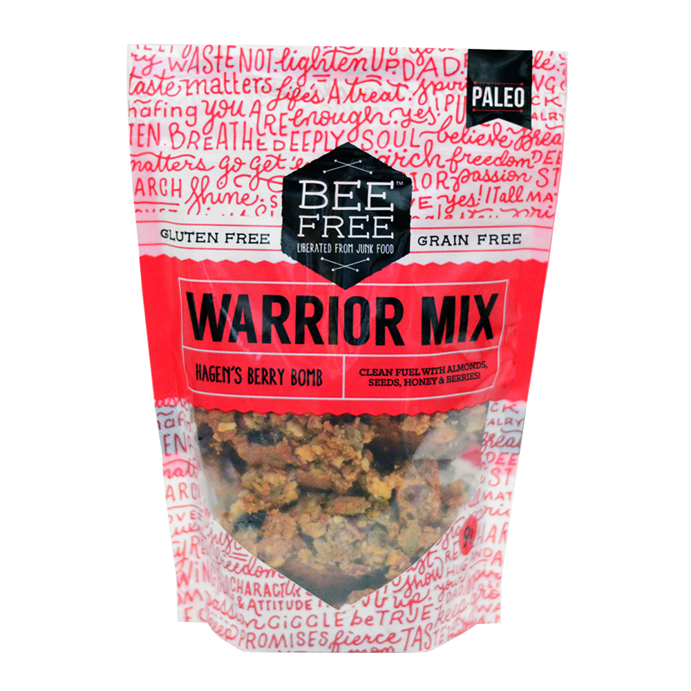 BeeFree Gluten-Free Bakery Hagen's Berry Bomb WARRIOR MIX 9oz case (12 bags)