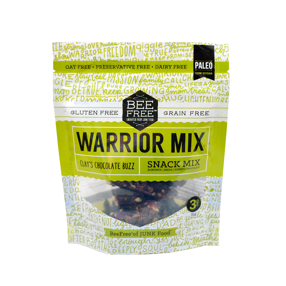 BeeFree Gluten-Free Bakery Clay's Chocolate Buzz WARRIOR MIX MINI (3oz)