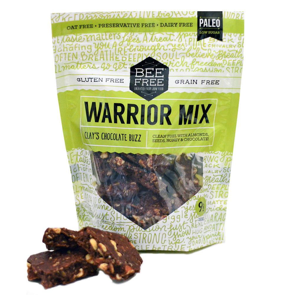 BeeFree Gluten-Free Bakery [SPRING SALE] Clay's Chocolate Buzz WARRIOR MIX (9oz)