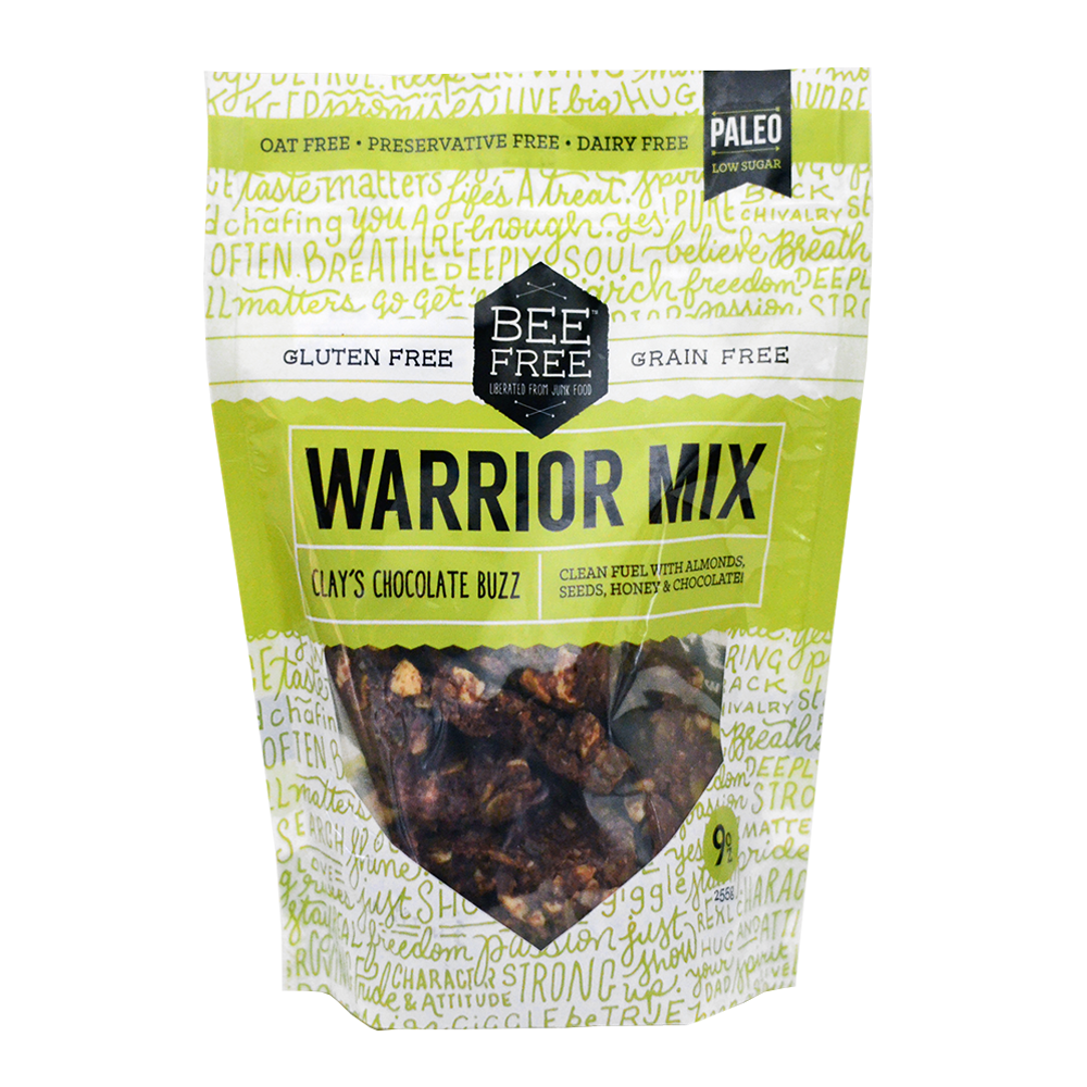 BeeFree Gluten-Free Bakery Clay's Chocolate Buzz WARRIOR MIX 9oz