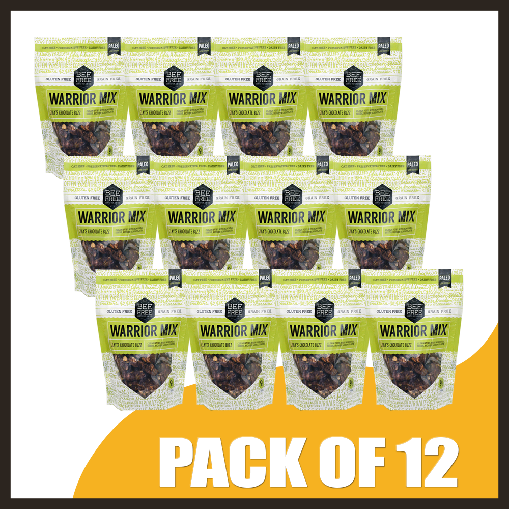 BeeFree Gluten-Free Bakery Clay's Chocolate Buzz WARRIOR MIX 9oz case (12 bags)