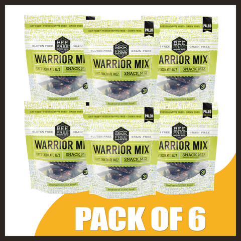 BeeFree Gluten-Free Bakery Clay's Chocolate Buzz WARRIOR MIX MINIPACKS OF 6 (3oz x 6)