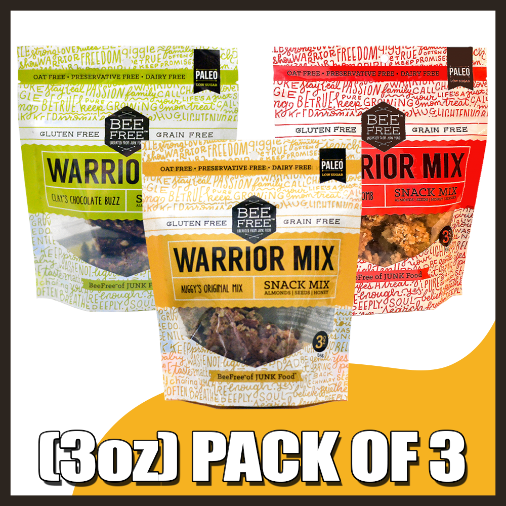 Assorted WARRIOR MIX 3oz (pack of 3)