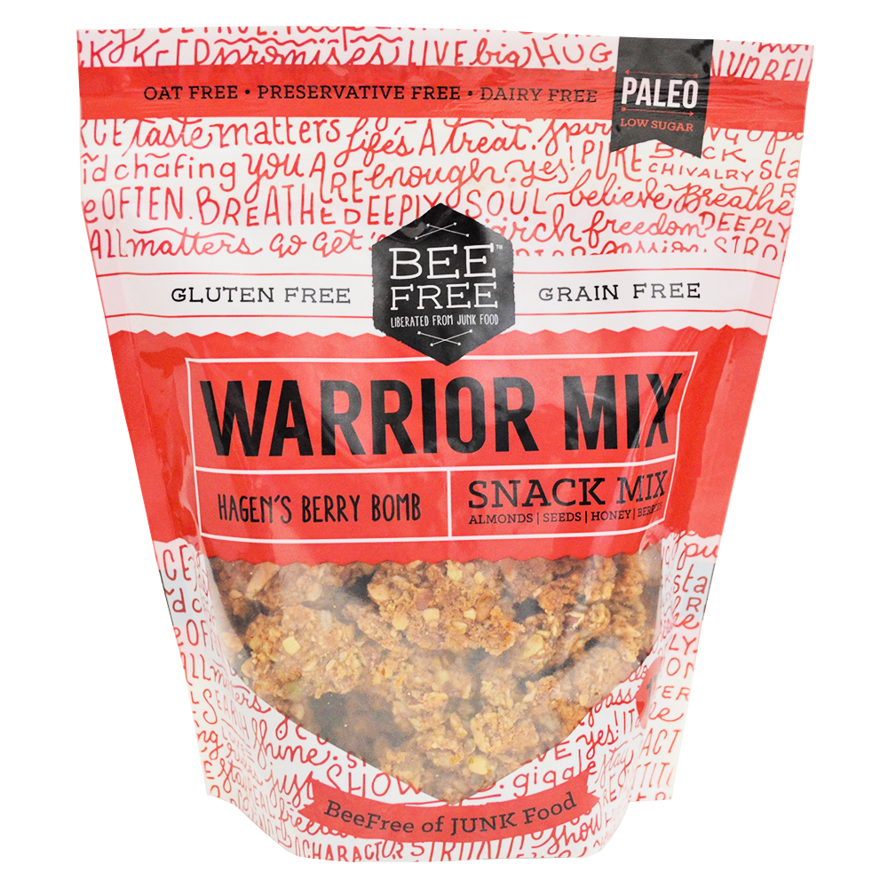 BeeFree Gluten-Free Bakery Hagen's Berry WARRIOR MIX MEGA (17oz)