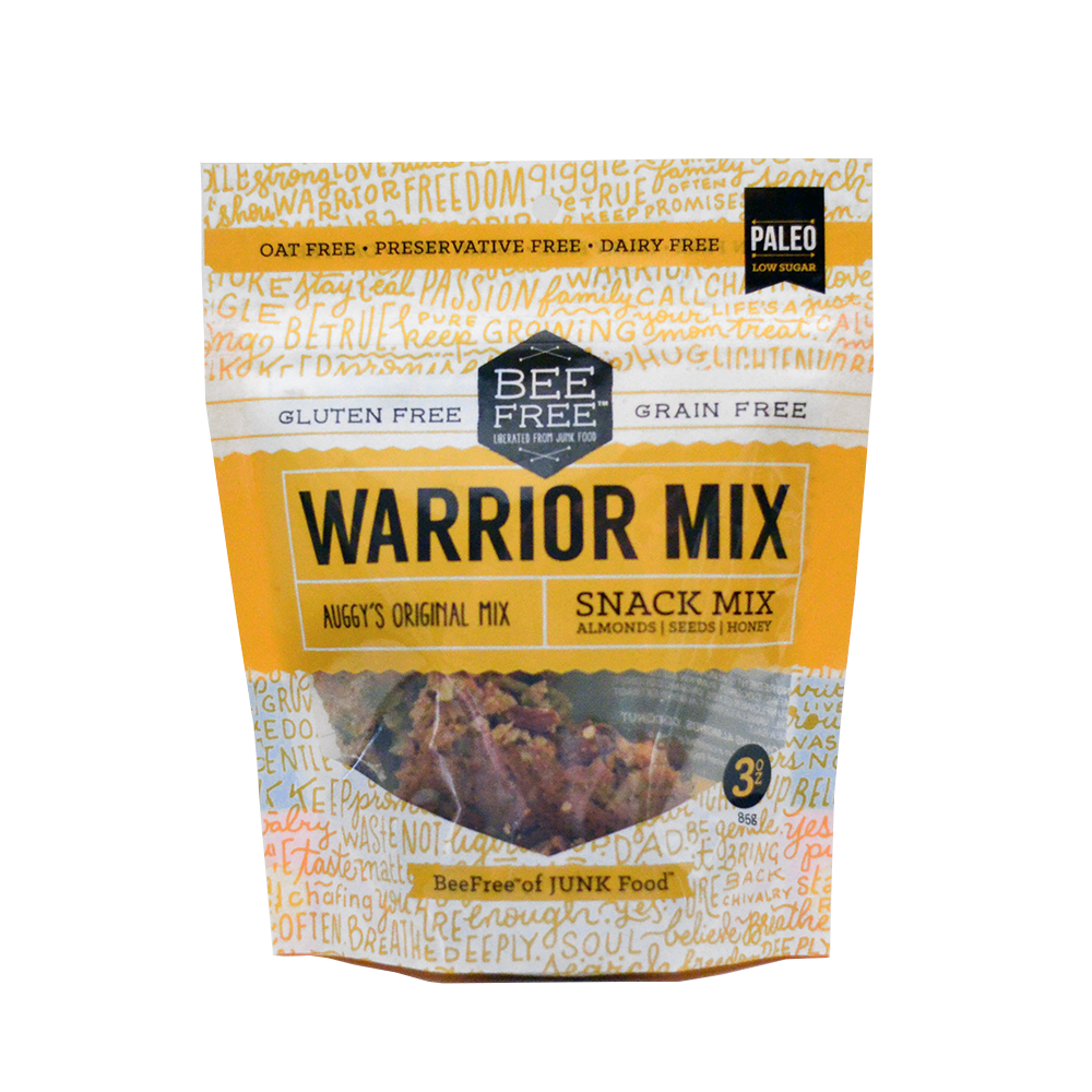 BeeFree Gluten-Free Bakery Auggy's Original WARRIOR MIX 3oz case (6 bags)