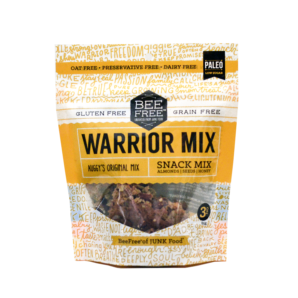 BeeFree Gluten-Free Bakery Assorted WARRIOR MIX 3oz case (6 bags)