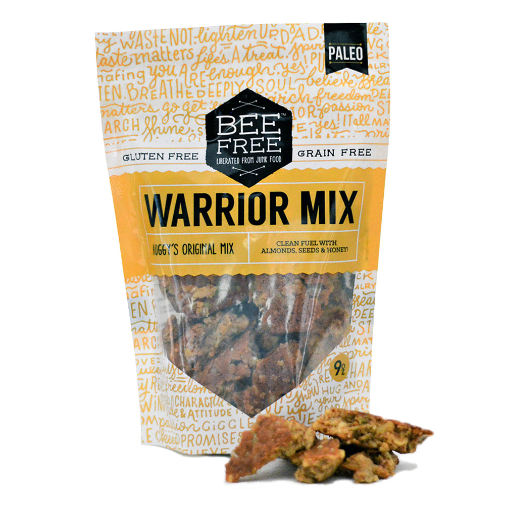 BeeFree Gluten-Free Bakery Auggy's Original WARRIOR MIX 9oz case (12 bags)