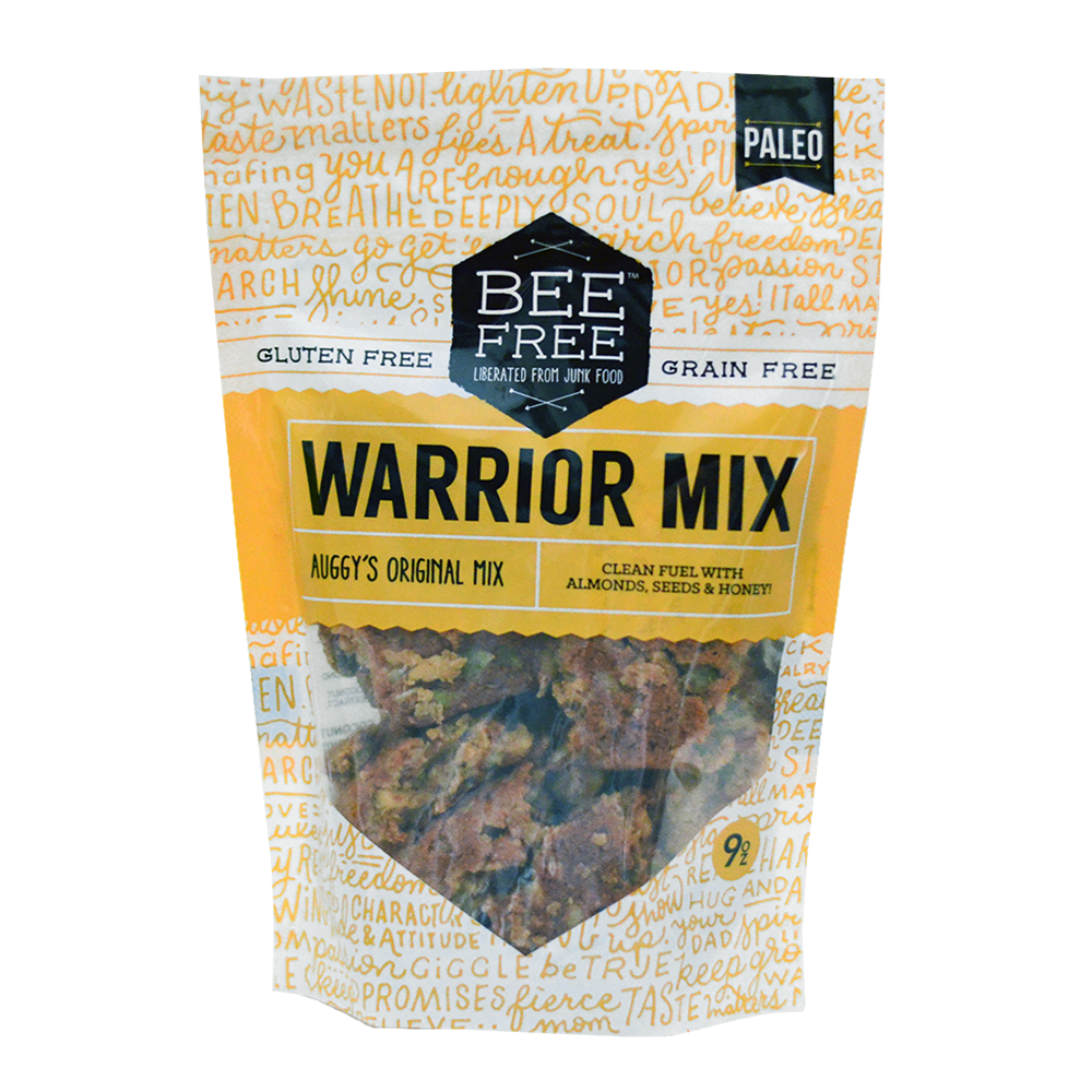 BeeFree Gluten-Free Bakery Assorted WARRIOR MIX 9oz case (12 bags)