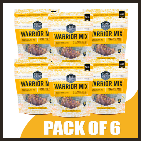BeeFree Gluten-Free Bakery Auggy's Original WARRIOR MIX MINIPACKS OF 6 (3oz x 6)