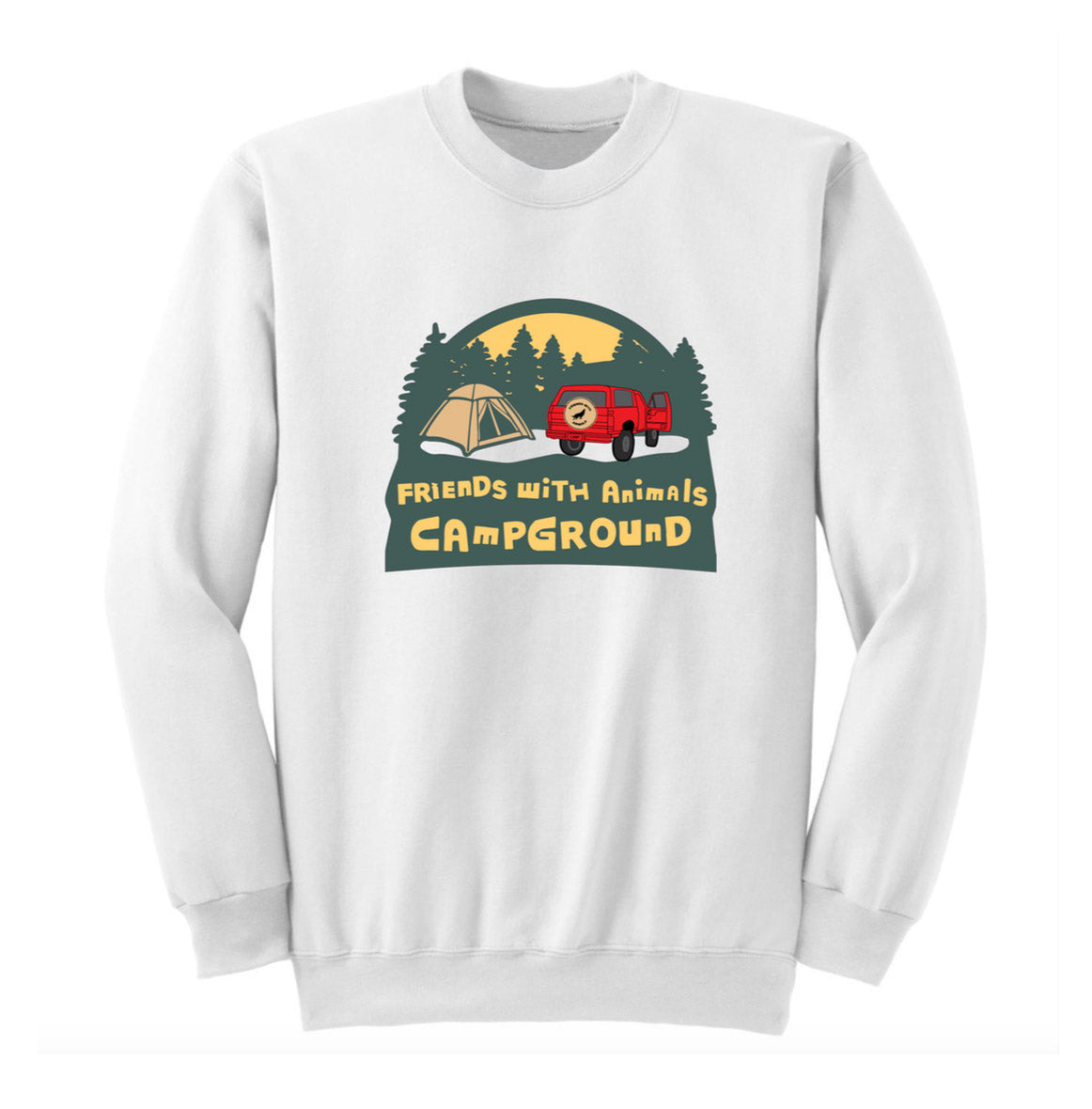 CAMP WHITE CREWNECK