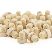 Cork and Wood Bottle Stopper - 50 Pieces
