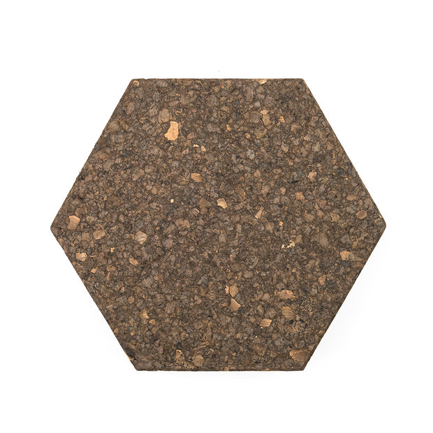 Brown Cork Hexagon Memo Board - 6 Pieces