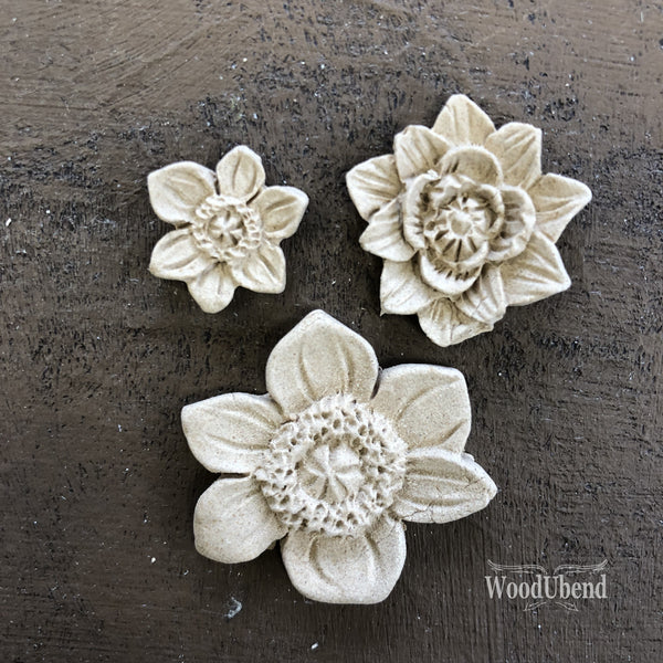 Flower Set 3 Pieces WUB0464 - JJ Bean Designs