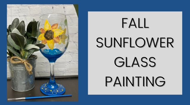 Fall Sunflower Glass Painting - JJ Bean Designs