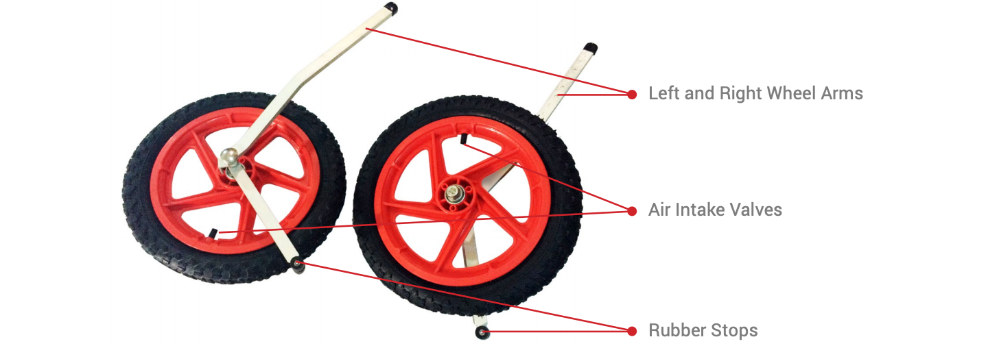 Sitgo Left and Right Wheels Assembly