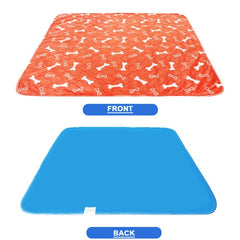 Waterproof Dog Mat/Bed - Blue and Grey