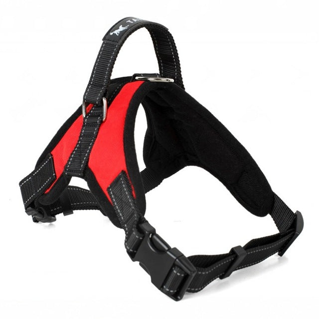 Adjustable Dog Harness with Lift Handle - Black