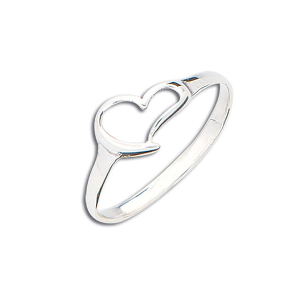 Sterling Silver Cora Heart Ring