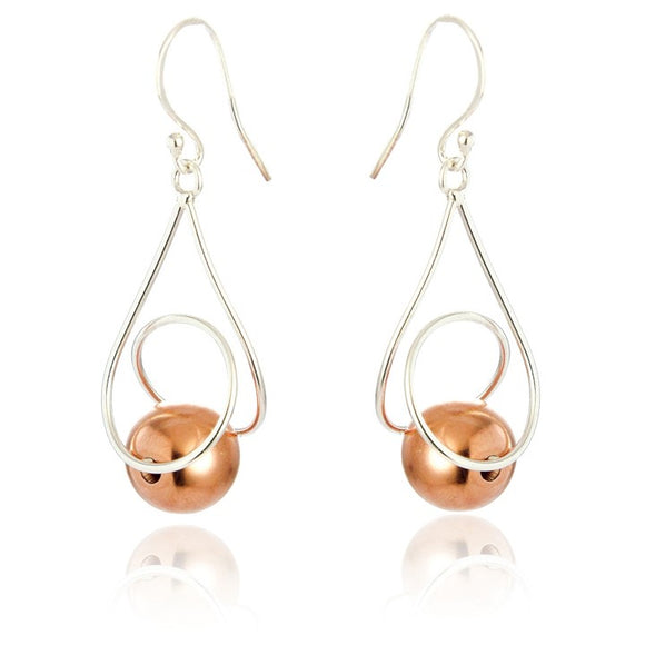 Sterling Silver Abigail Drop Earrings - Rose Gold Plated