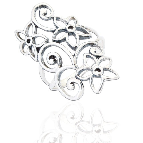 Sterling Silver Eden Floral Ring