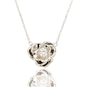 Sterling Silver Belle Rose Pendant