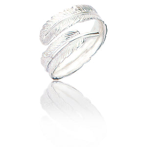 Sterling Silver Melissa Feather Ring - Silver