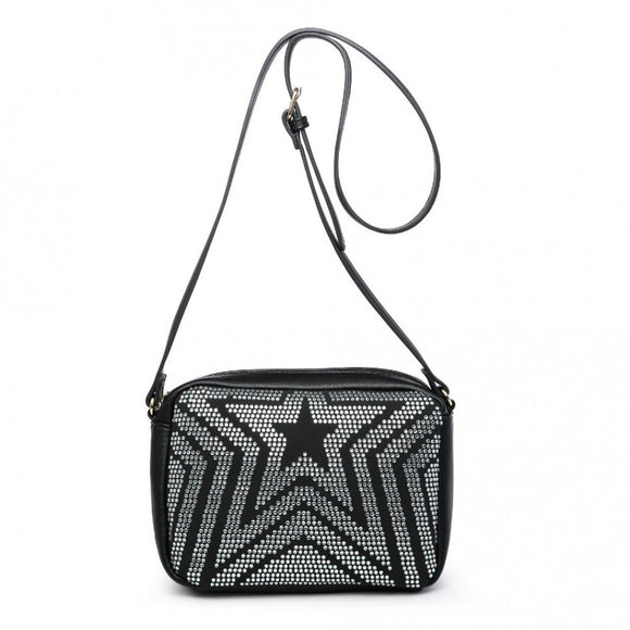 Black crystal star bag