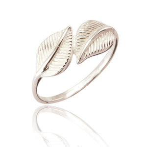 Sterling Silver Annie Leaf Ring