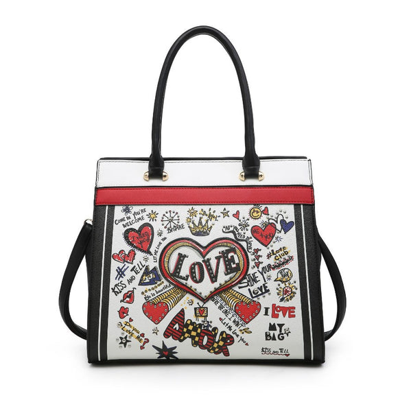 Black Love graffiti bag