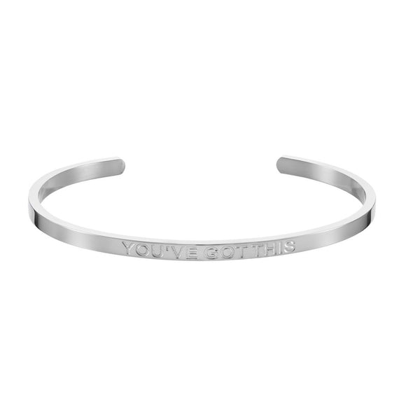 'YOU'VE GOT THIS' Affirmation Bangle - Silver