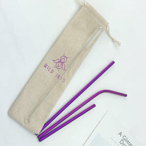 Wild Iris Purple Straw Set