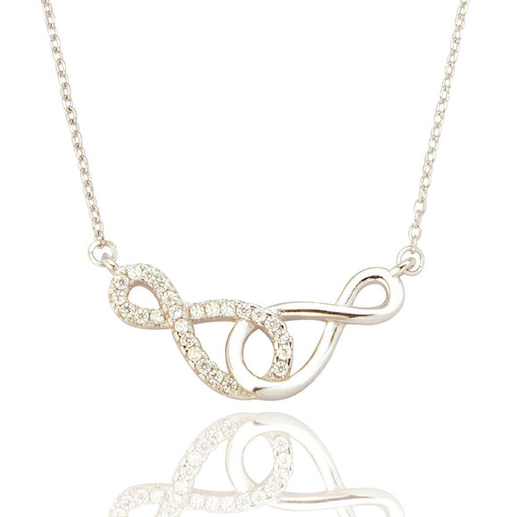 Sterling Silver Serene Infinity Pendant & Chain