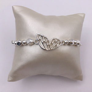 Silver butterfly stretch bracelet