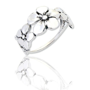 Sterling Silver Sophia Pansy Ring
