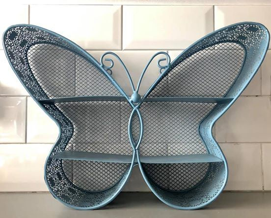 Blue Butterfly wire shelving unit