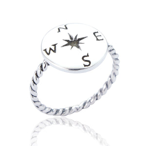 Sterling Silver Beatrix Compass Ring