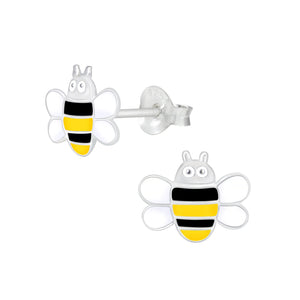 Silver Bee Stud Earrings - Nine Twenty Five Silver