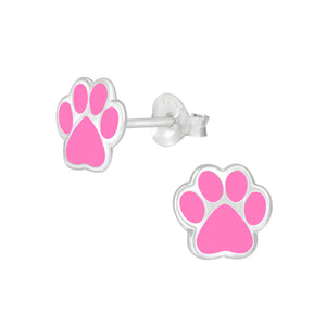 Silver Dog Paw Print Stud Earrings - Nine Twenty Five Silver