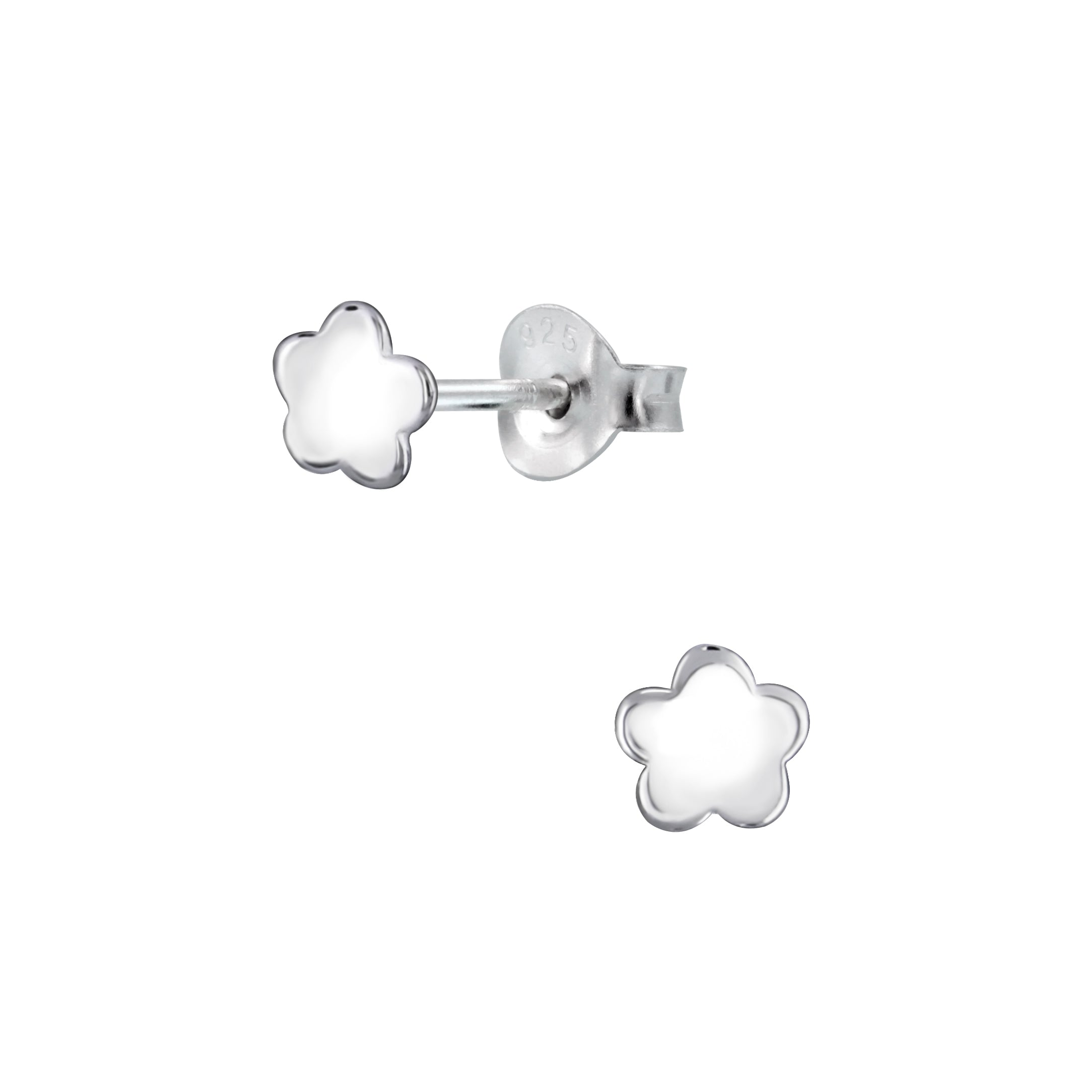 Silver Flower Stud Earrings - Nine Twenty Five Silver