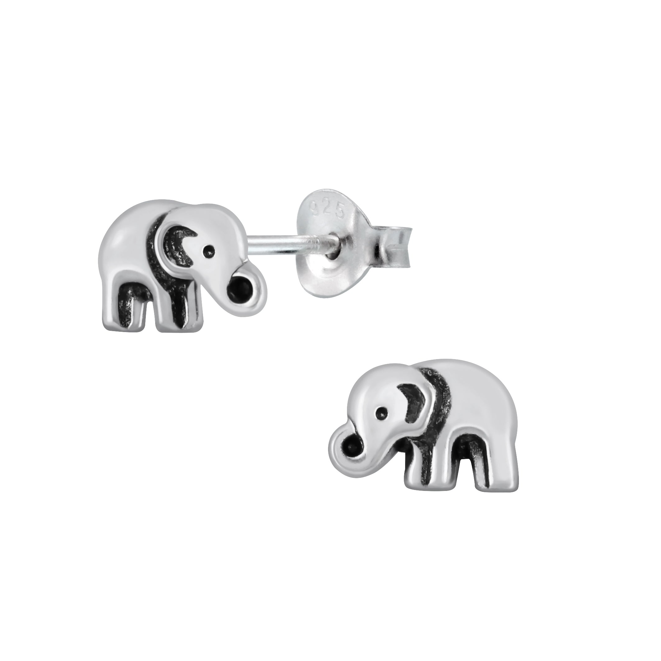 Silver Elephant Stud Earrings - Nine Twenty Five Silver