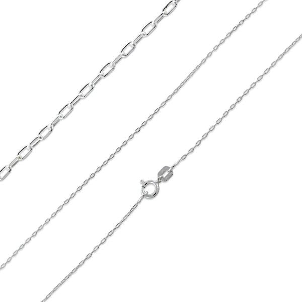 925 Sterling Silver Forz D/C Chain Necklace - 1.3mm
