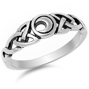 Celtic Design Moon 925 Sterling
