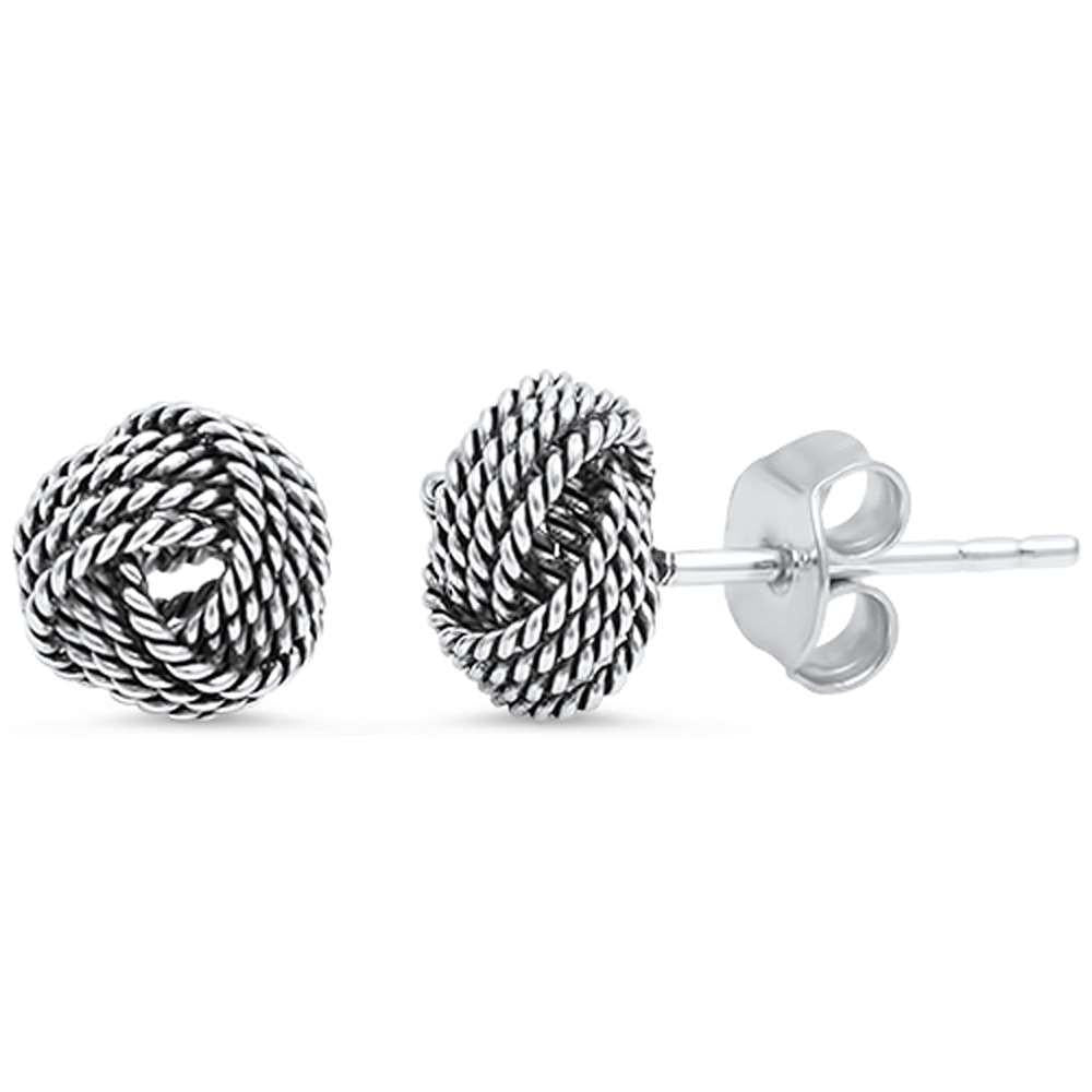 Braided Studs 925 Sterling Silver Earring - Nine Twenty Five Silver