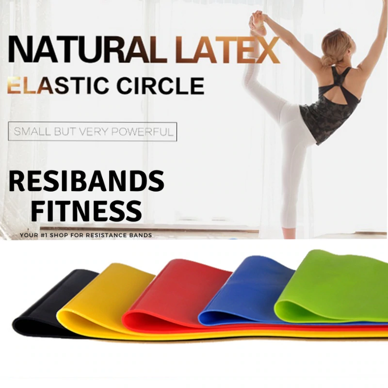5PC Latex Resistance Bands