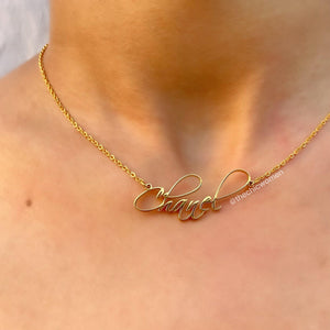 Calligraphy Custom Necklace-custom necklace-The Chic Women