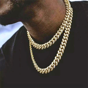 13MM Icy Cuban Chain-for men-The Chic Women