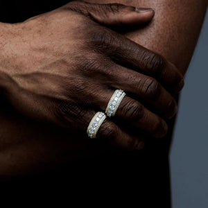5 Row Icy Ring-for men-The Chic Women